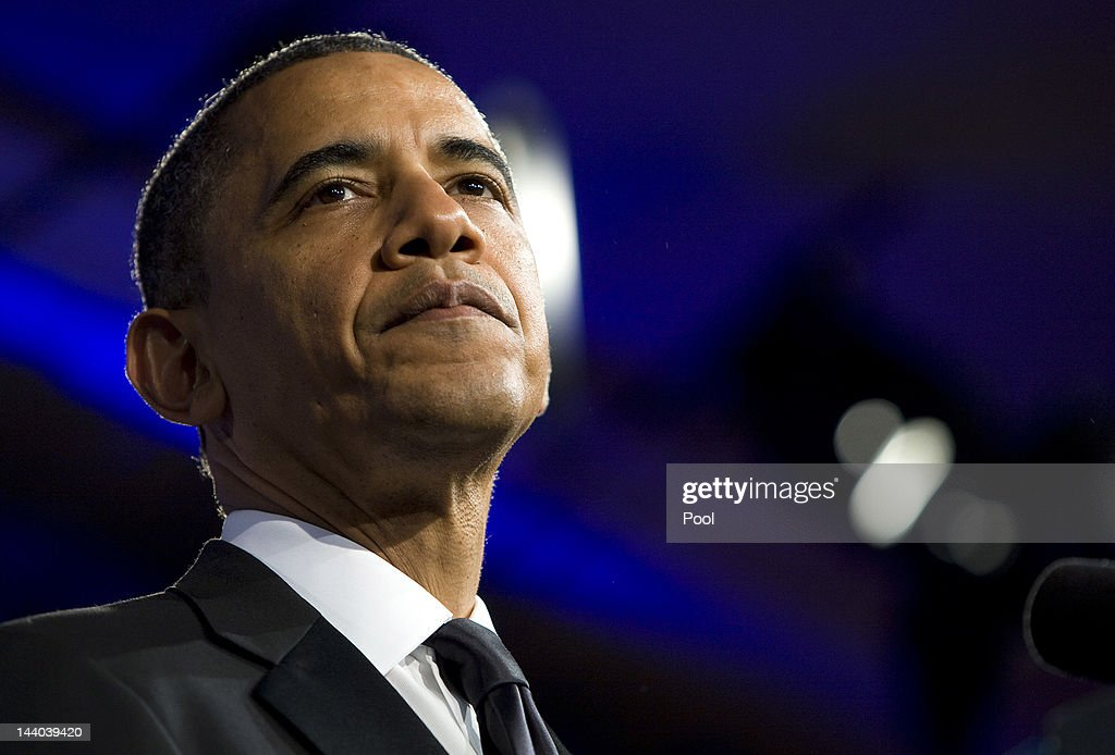 U.S. President Barack Obama delivers a keynote address during the 18th Annual Asian Pacific American Institute for Congressional Studies Gala Dinner on May 8, 2012 in Washington, D.C. APAIC is a non-profit group that works to develop Asian American leaders and politicians.