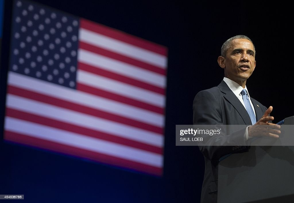US President <a gi-track='captionPersonalityLinkClicked' href=/galleries/search?phrase=Barack+Obama&family=editorial&specificpeople=203260 ng-click='$event.stopPropagation()'>Barack Obama</a> delivers a speech about US - Estonia relations, as well as the situation in Ukraine, at Nordea Concert Hall in Tallinn, Estonia, September 3, 2014. US President <a gi-track='captionPersonalityLinkClicked' href=/galleries/search?phrase=Barack+Obama&family=editorial&specificpeople=203260 ng-click='$event.stopPropagation()'>Barack Obama</a> underscored Washington's commitment to the security of NATO allies, announcing additional US planes to police the skies over Europe's eastern flank bordering Russia.