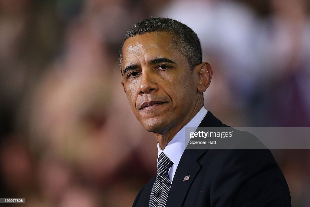 S President Barack Obama delivers a speech on gun control at the University of Hartford on April 8 2013 in West Hartford Connecticut Nearly four...
