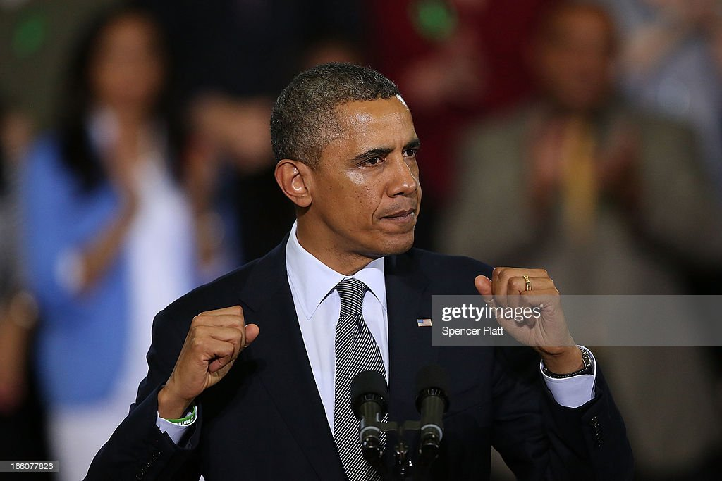 U.S. President <a gi-track='captionPersonalityLinkClicked' href=/galleries/search?phrase=Barack+Obama&family=editorial&specificpeople=203260 ng-click='$event.stopPropagation()'>Barack Obama</a> delivers a speech on gun control at the University of Hartford on April 8, 2013 in West Hartford, Connecticut. Nearly four months after the Sandy Hook Elementary School shootings, Connecticut has passed some of the toughest gun control measures in the nation.