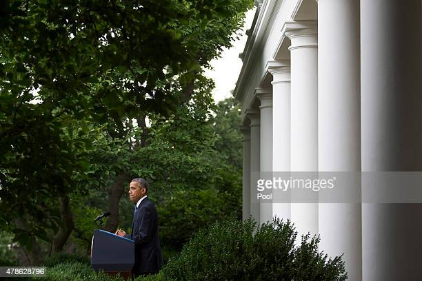 S President Barack Obama delivers a statement after the US Supreme Court ruled that samesex couples have a constitutional right to marry nationwide...