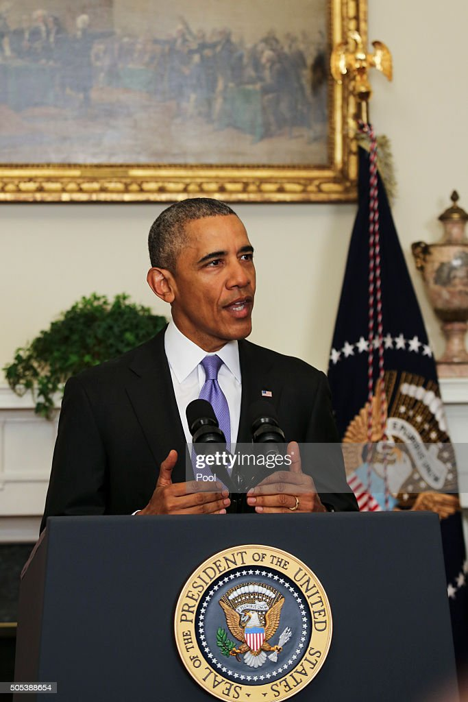 Obama makes statement on iran getty images
