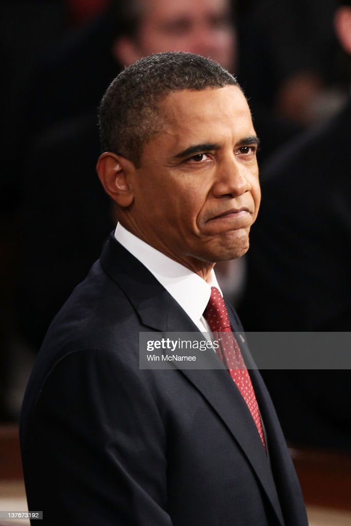 U.S. President <a gi-track='captionPersonalityLinkClicked' href=/galleries/search?phrase=Barack+Obama&family=editorial&specificpeople=203260 ng-click='$event.stopPropagation()'>Barack Obama</a> delivers his State of the Union address on January 24, 2012 in Washington, DC. Obama said the focal point his speech is the central mission of our country, and his central focus as president, including 'rebuilding an economy where hard work pays off and responsibility is rewarded.'
