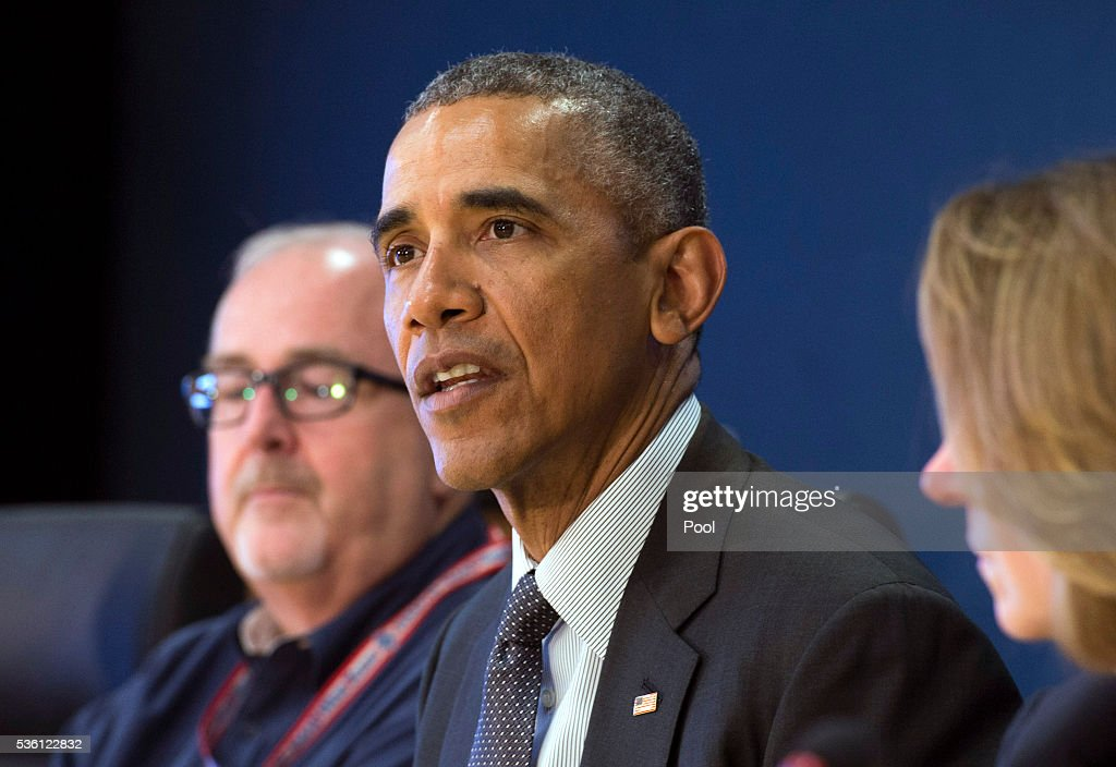 U.S. President <a gi-track='captionPersonalityLinkClicked' href=/galleries/search?phrase=Barack+Obama&family=editorial&specificpeople=203260 ng-click='$event.stopPropagation()'>Barack Obama</a> delivers remarks as he receives a briefing on the upcoming Hurricane season at FEMA headquarters on May 31, 2016 in Washington, D.C. Obama was joined FEMA Director Craig Fugate.
