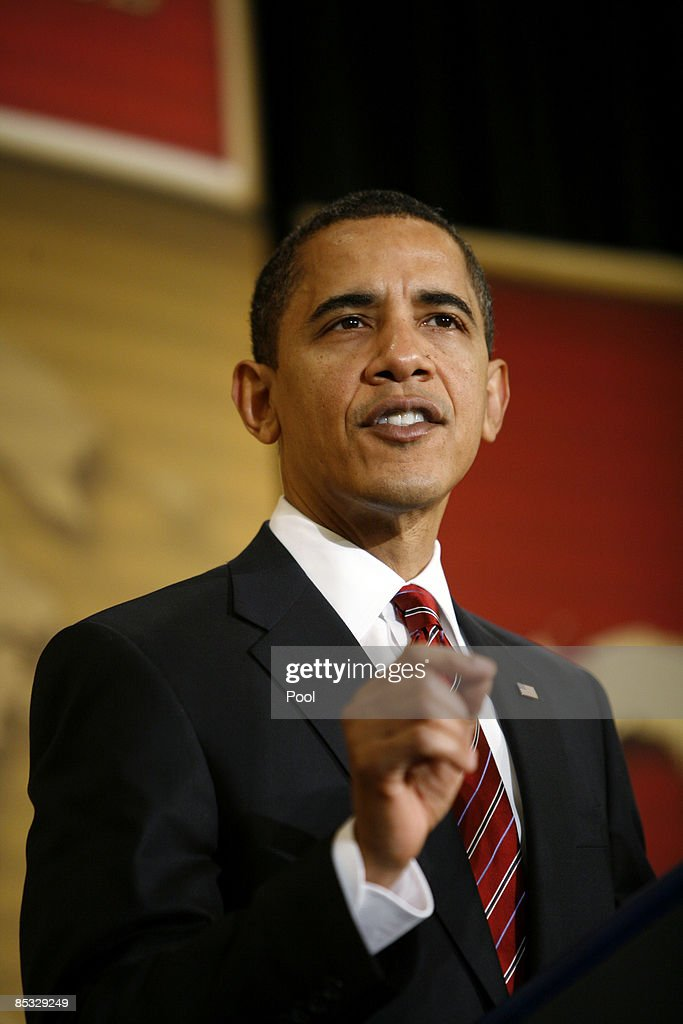 US President Barack Obama delivers remarks at the US Hispanic Chamber of Commerce's 19th Annual Legislative Conference at the Washington Marriott...