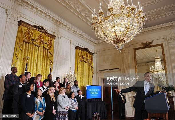 US President Barack Obama delivers remarks before signing an executive order raising the federal minimum wage to $1010 on new federal contracts in...