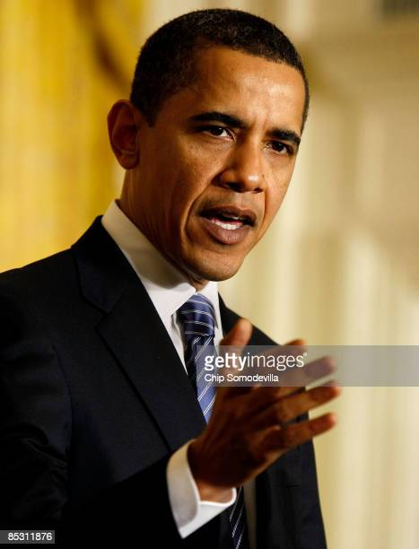 S President Barack Obama delivers remarks before signing an Executive Order reversing the US government�s ban on funding stemcell research during a...