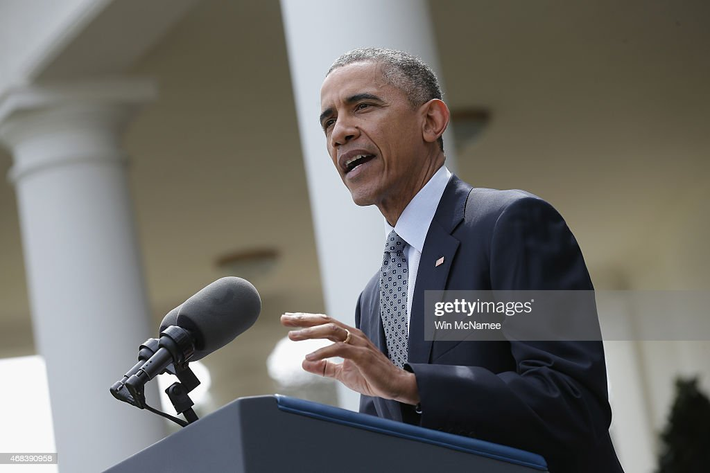 Barack obama delivers remarks on the ongoing negotiations with iran