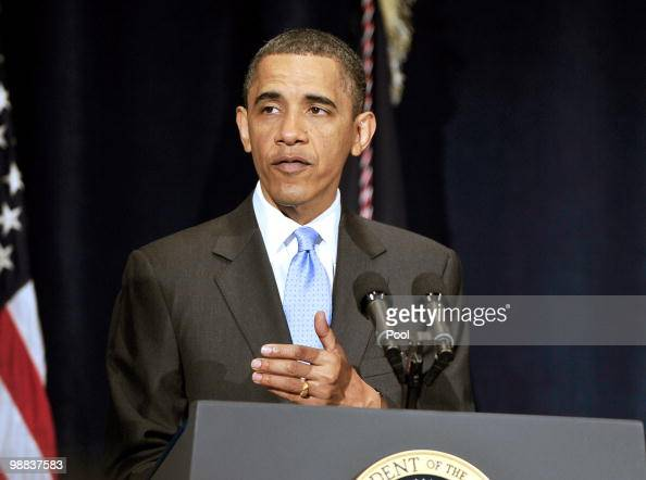 US President Barack Obama delivers remarks to the Business Council at the Park Hyatt Hotel May 4 2010 in Washington DC In his remarks the President...