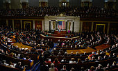 President Barack Obama delivers the annual State of the Union address to a joint session of the US Congress in the House chamber at the Capitol on...