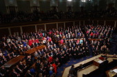 S President Barack Obama delivers the State of the Union address to a joint session of Congress in the House Chamber at the US Capitol on January 28...