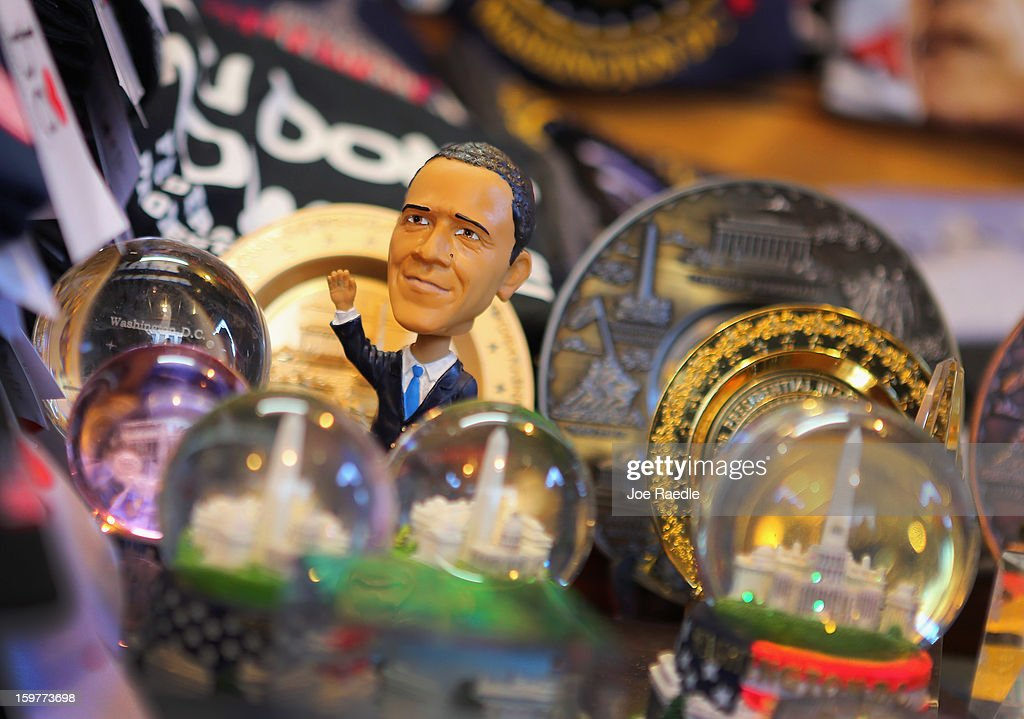 S. President Barack Obama doll is displayed in a souvenir shop as preparations continue for the Presidential Inauguration on January 20, 2013 in Washington, DC. The U.S. capital is preparing for the second inauguration of U.S. President Barack Obama, which will take place on January 21.