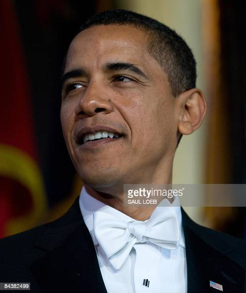 US President Barack Obama during the Youth Inaugural Ball at the Hilton Washington in Washington DC January 20 2009 Obama was sworn in as the 44th US...