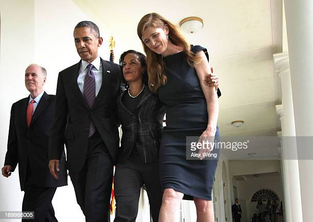 S President Barack Obama former aide Samantha Power US Ambassador to the United Nations Susan Rice and incumbent National Security Adviser Tom...
