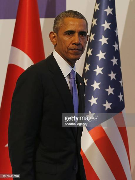 President Barack Obama holds a press conference on day two of the G20 Turkey Leaders Summit on November 16 2015 in Antalya Turkey