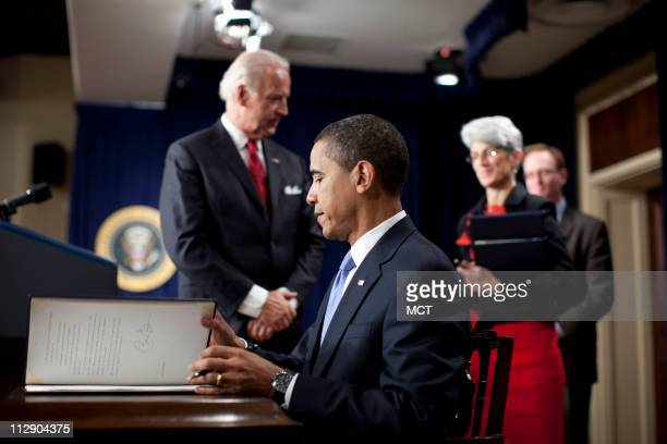 President Barack Obama holds a signing ceremony for five executive orders requiring staffers to comply with strict new rules governing lobbying...