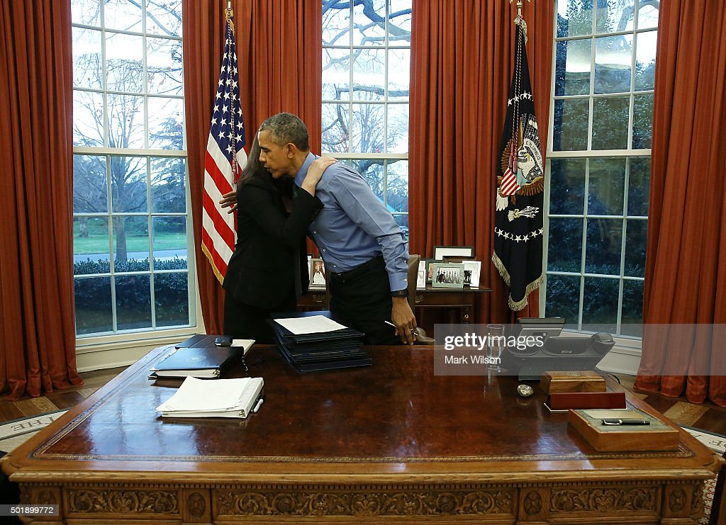 President Obama Signs Bills In The Oval Office Of White