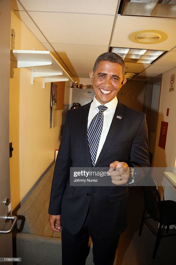 President Barack Obama impersonator Louis Ortiz attends the New York County Democratic Committee Award Ceremony at American Airlines Theater on July 15, 2013 in New York City.