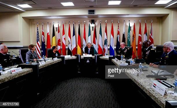 S President Barack Obama Joint Chiefs of Staff General Martin E Dempsey US National Security Advisor Susan Rice US Homeland Security Advisor Lisa...