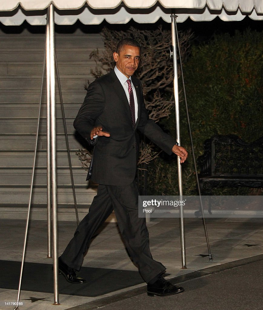U.S. President <a gi-track='captionPersonalityLinkClicked' href=/galleries/search?phrase=Barack+Obama&family=editorial&specificpeople=203260 ng-click='$event.stopPropagation()'>Barack Obama</a> leaves the White House March 23, 2012 in Washington, DC. The president is traveling to Seoul, South Korea for a nuclear security summit meeting with leaders from more than 50 nations.