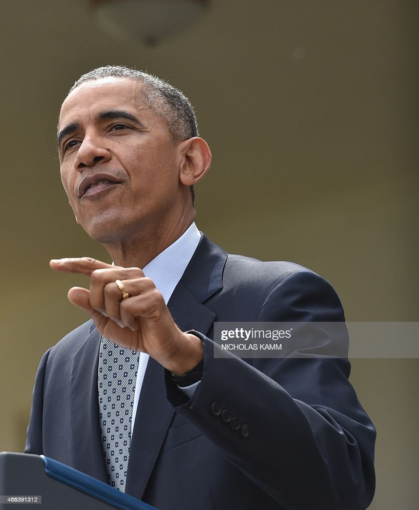 President obama makes statement on nuclear talks with iran getty