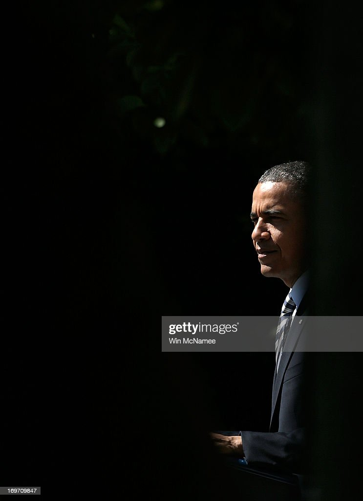 U.S. President <a gi-track='captionPersonalityLinkClicked' href=/galleries/search?phrase=Barack+Obama&family=editorial&specificpeople=203260 ng-click='$event.stopPropagation()'>Barack Obama</a> makes a statement on student loans in the Rose Garden of the White House May 31, 2013 in Washington, DC. Obama made existing student loan programs an issue during his campaign last year while visiting many college campuses across the U.S..