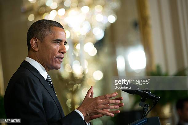 US President Barack Obama makes remarks about immigration reform in the East Room of the White House in Washington DC US on Oct 24 2013 Obama said...