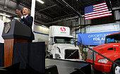 US President Barack Obama makes remarks on the economy at a Safeway Distribution Center February 18 in Upper Marlboro Maryland Obama pushed his...