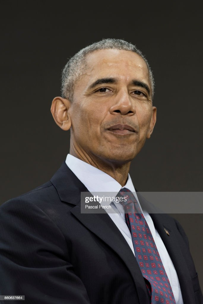 President Barack Obama photographed on September 20, 2017, at the Bill & Melinda Gates Goalkeepers Forum in New York City.