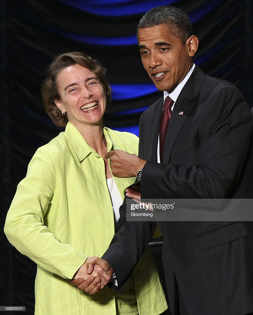 U.S. President <a gi-track='captionPersonalityLinkClicked' href=/galleries/search?phrase=Barack+Obama&family=editorial&specificpeople=203260 ng-click='$event.stopPropagation()'>Barack Obama</a>, right, greets Senator <a gi-track='captionPersonalityLinkClicked' href=/galleries/search?phrase=Blanche+Lincoln&family=editorial&specificpeople=504930 ng-click='$event.stopPropagation()'>Blanche Lincoln</a>, a Democrat from Arkansas, during a signing ceremony for the Dodd-Frank Wall Street Reform and Consumer Protection Act at the Ronald Reagan Building and International Trade Center in Washington, D.C., U.S., on Wednesday, July 21, 2010. Obama signed the most sweeping set of financial rules since the Great Depression today, kicking off an election-year fight to define how the law will be put into effect. Photographer: Win McNamee/Pool via Bloomberg
