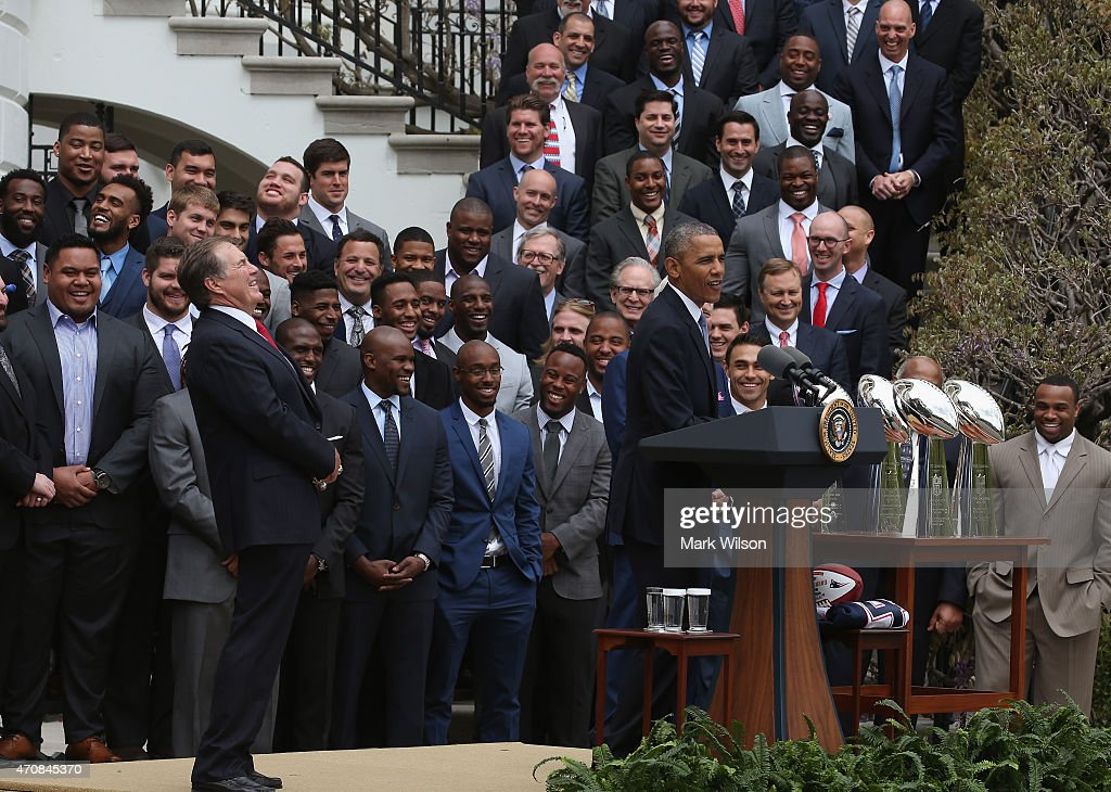 President Obama Hosts The Super Bowl Champion New England Patriots At The White House