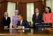 S President Barack Obama signs an Executive Order directing the Food and Drug Administration to take action to help prevent and reduce prescription...