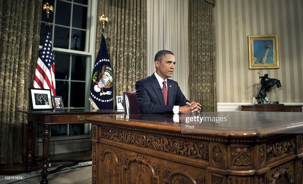 Obama Addresses Nation On Deadline Date For Combat Troops