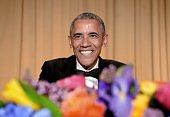 President Barack Obama smiles at the annual White House Correspondent's Association Gala at the Washington Hilton hotel April 25 2015 in Washington...