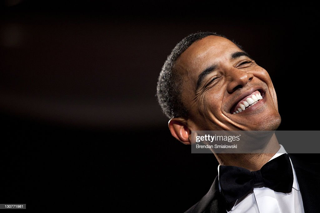 U.S. President Barack Obama smiles while speaking during the 36th annual National Italian American Foundation Gala October 29, 2011 in Washington, DC. President Barack Obama delivered the keynote address at the awards gala which is part of a two-day convention for the organization.