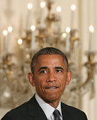 President Barack Obama speaks about medicine during an event in the East Room at the White House January 30 2015 in Washington DC President Obama...