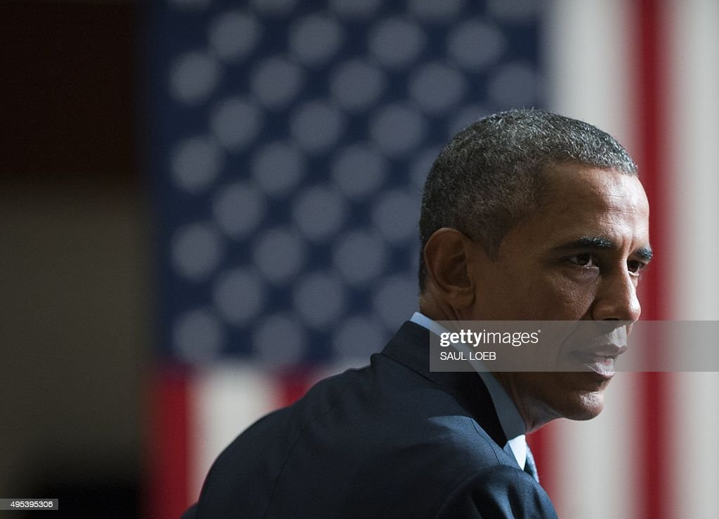 US President Barack Obama speaks about the reentry process for formerly incarcerated individuals and related programs at the Center for Law and...