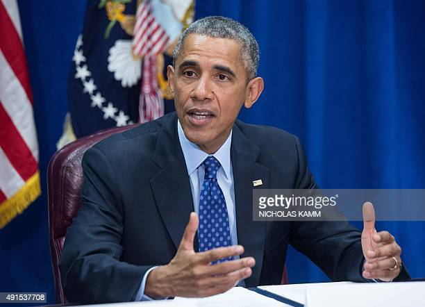 US President Barack Obama speaks about the TransPacific Partnership agreement during an event at the Agriculture Department in Washington DC on...