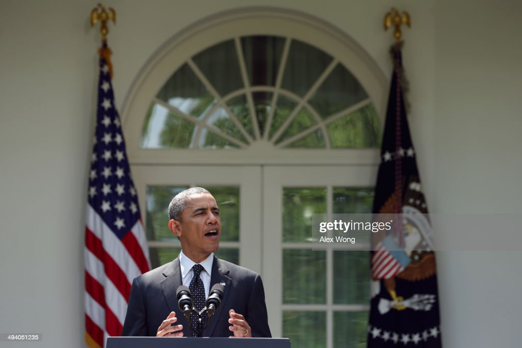 U.S. President Barack Obama speaks about troop pullout from Afghanistan at the White House on May 27, 2014 in Washington, DC. The administration's plan is to keep a contingency force of 9,800 U.S. troops in Afghanistan beyond 2014, consolidating them in Kabul and on Bagram Air Base.