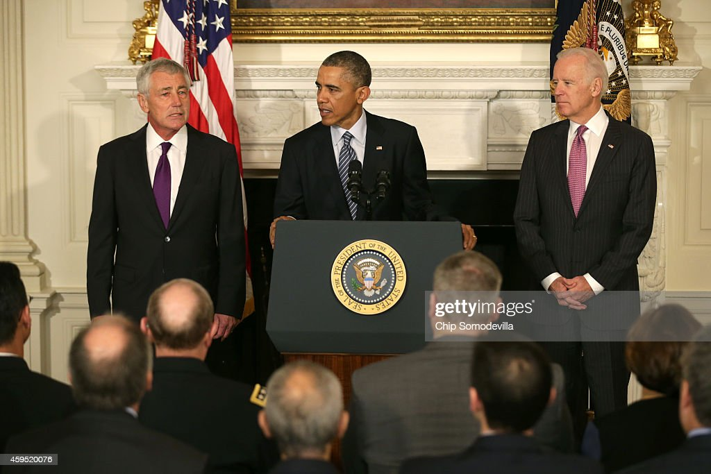 Obama announces resignation of chuck hagel as defense for U s senate dining room