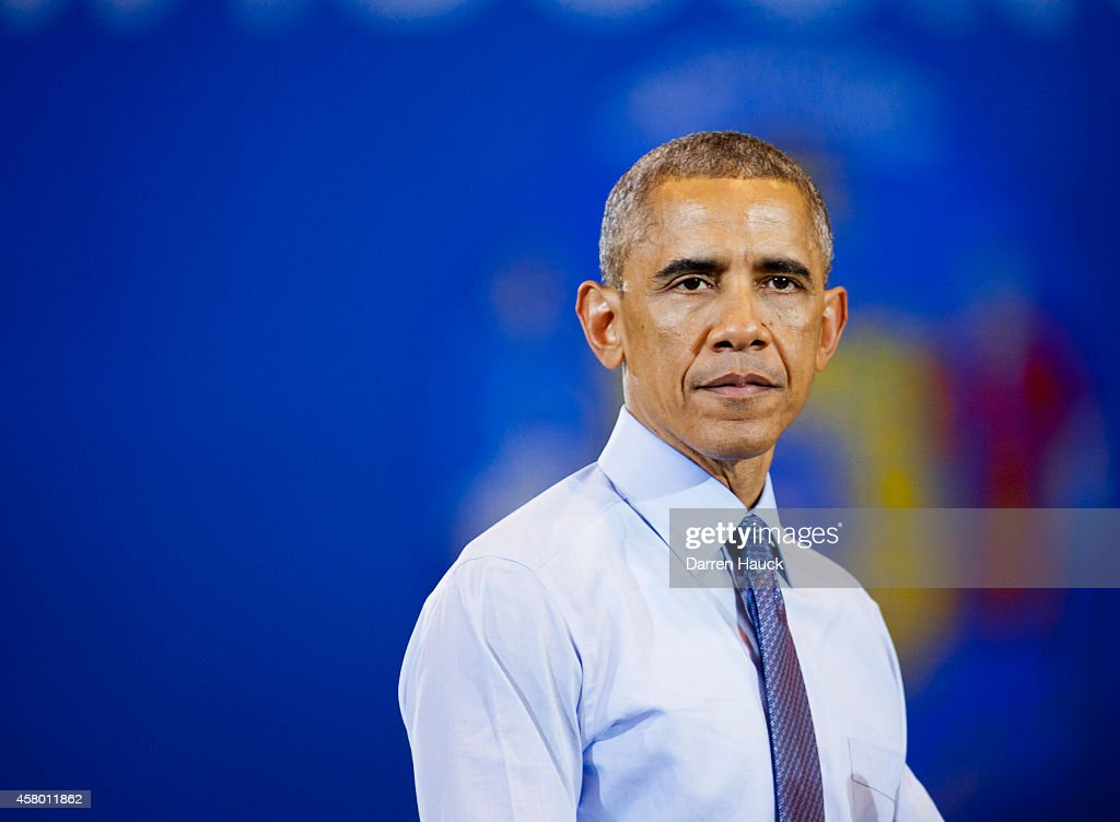S President Barack Obama speaks at a campaign rally for Democratic challenger for Wisconsin Governor Mary Burke at North Devision High School on...