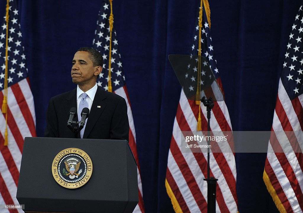 U.S. President Barack Obama speaks at Carnegie Mellon University June 2, 2010 in Pittsburgh, Pennsylvania. Obama discussed the state of the US economy before area business leaders and community members.