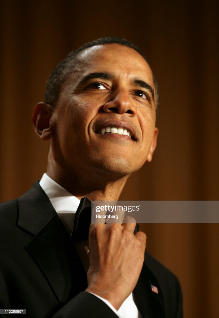 U.S. President <a gi-track='captionPersonalityLinkClicked' href=/galleries/search?phrase=Barack+Obama&family=editorial&specificpeople=203260 ng-click='$event.stopPropagation()'>Barack Obama</a> speaks at the annual White House Correspondents' Association (WHCA) dinner in Washington, D.C., U.S., on Saturday, April 30, 2011. The dinner raises money for WHCA scholarships and honors the recipients of the organization's journalism awards. Photographer: Martin H. Simon/Pool via Bloomberg