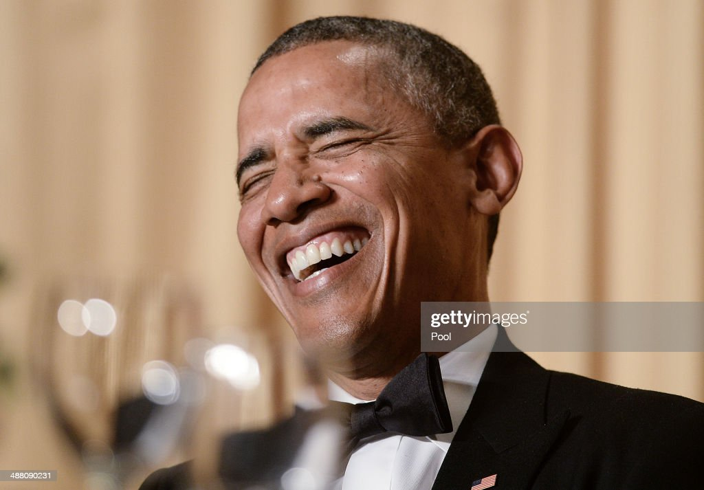 US President <a gi-track='captionPersonalityLinkClicked' href=/galleries/search?phrase=Barack+Obama&family=editorial&specificpeople=203260 ng-click='$event.stopPropagation()'>Barack Obama</a> speaks at the annual White House Correspondent's Association Gala at the Washington Hilton hotel May 3, 2014 in Washington, D.C. The dinner is an annual event attended by journalists, politicians and celebrities.