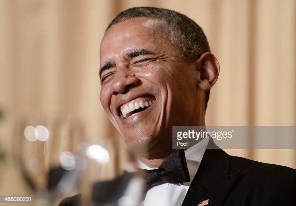 US President Barack Obama speaks at the annual White House Correspondent's Association Gala at the Washington Hilton hotel May 3 2014 in Washington...