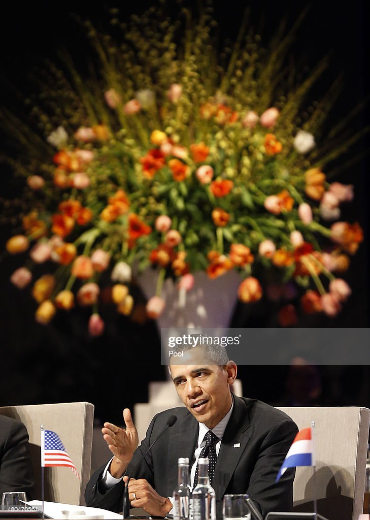 U.S. President <a gi-track='captionPersonalityLinkClicked' href=/galleries/search?phrase=Barack+Obama&family=editorial&specificpeople=203260 ng-click='$event.stopPropagation()'>Barack Obama</a> speaks at the closing session of the 2014 Nuclear Security Summit on March 25, 2014 in The Hague, Netherlands. Leaders from around the world have come to discuss matters related to international nuclear security, though the summit is overshadowed by recent events in Ukraine.