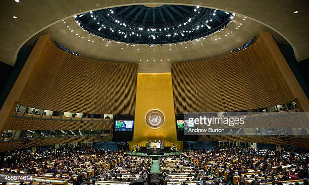 S President Barack Obama speaks at the United Nations Climate Summit on September 23 2014 in New York City The summit which is meeting one day before...