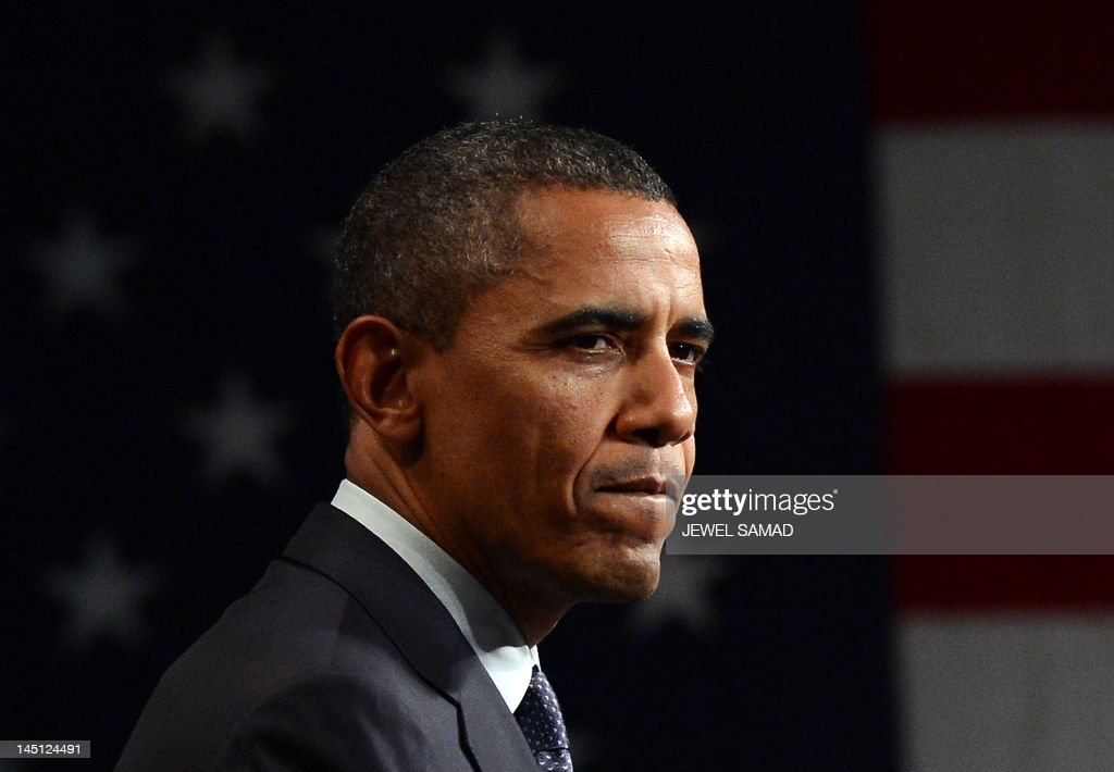 US President Barack Obama speaks during a campaign event in Denver Colorado on May 23 2012 Obama may have made his name peddling hope and change but...