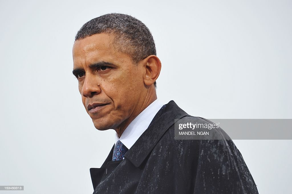 US President Barack Obama speaks during a campaign rally October 5, 2012 at Cleveland State University in Cleveland, Ohio. AFPHOTO/Mandel NGAN