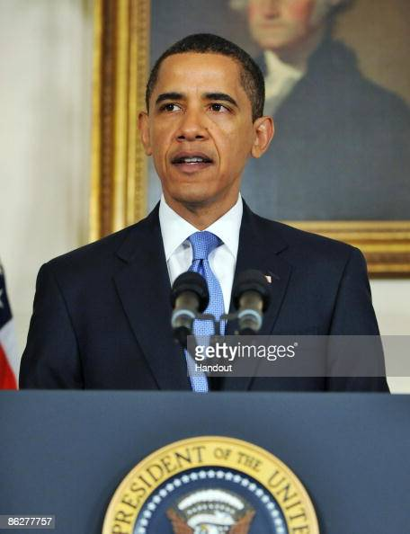 S President Barack Obama speaks during a press conference as US Sen Arlen Specter to the Democratic Party at the White House on April 29 2009 in...